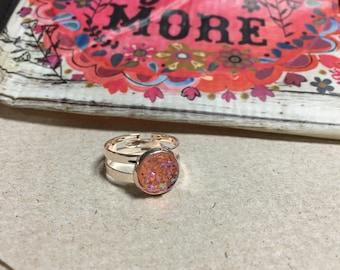 Rose Gold ans Druzy Ring Pastels