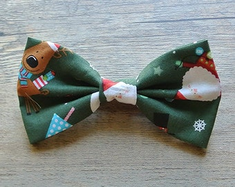 Christmas, Christmas Bow Tie, Santa Claus, Santa Claus Bow, Santa Tie, Red and White, Holiday, Reindeer, Winter