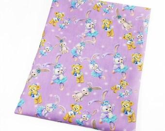 sweet  little animals 2 fabric