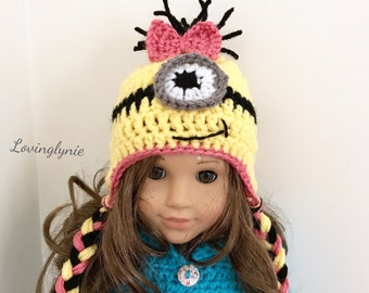 "18"" American girl doll Minion beanie"