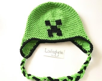 Minecraft beanie / creeper beanie / minecraft / creeper