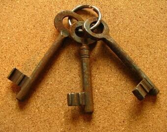 Vintage 3 Old Skeleton Keys