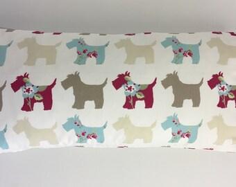 Yoga cushion,lavender cushion,meditation pillow,yoga bolster,relaxation pillow,Scottie dogs cushion