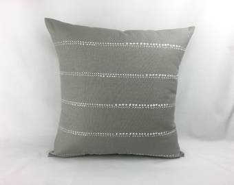 Grey Pillow Covers - Grey and White Throw Pillows - Decorative Pillows - Grey Euro Sham - Grey Pillows - Grey Couch Pillows