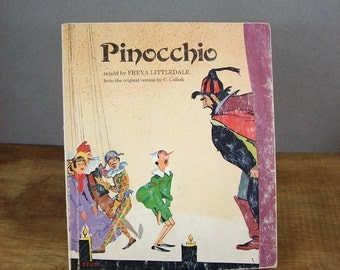 Vintage Children's Book Pinnochio, Original Illustrations by Attilio Mussino
