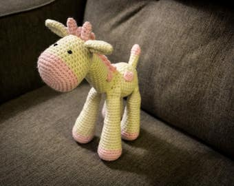 Giraffe Crocheted Stuffed Animal/Toy (Made to Order)