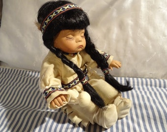 Native American Doll, Emerald Doll Collection, Little Drummer,Real Life Like Doll,Art & Collectible,Indian Doll, Toy