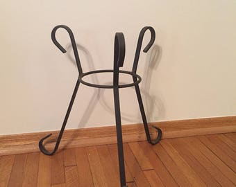Wrought Iron Tri Pod Plant Stand