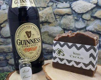 Handmade soap - Guinness Irish Cream - Beer Soap