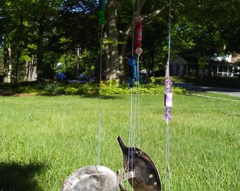 Silverplate Spoons Repurposed into Shiney, Happy Fish Wind Chime, Mobile!  Free Shipping!