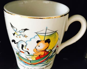 A sweet vintage sooty and sweep cup