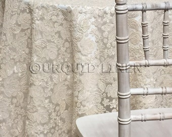 Valentina Lace Tablecloth in Ivory - Ideal for Weddings & Bridal Events