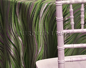 Allure Jacquard in Green - Ideal for Events, Parties & Home Decor