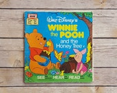 Winnie the Pooh and the Honey Tree • Vintage Walt Disney Book • Story With Pooh AA Milne Author • Reusing Book Pages • Winnie The Pooh Theme