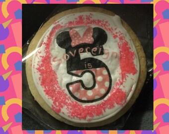 1/2 dozen Custom 3 Inch Round Picture Sugar Cookies (6 cookies)