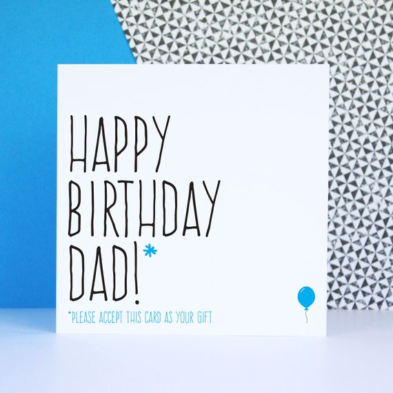 Funny birthday card for dad card for dad Happy birthday Dad – Happy Birthday Dad Card