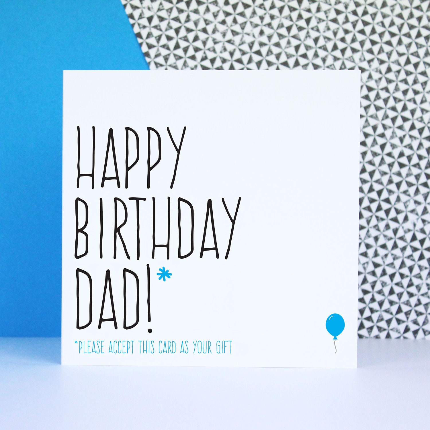 Funny birthday card for dad card for dad Happy birthday Dad