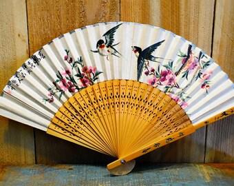 Vintage Asian Foldable Hand Fan
