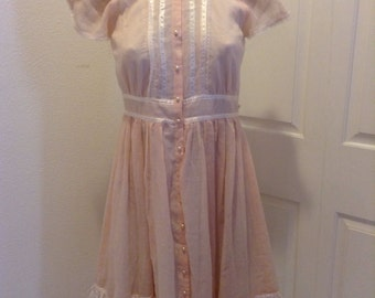 Vintage Gunne Sax Dress Peachy Lolita Girls