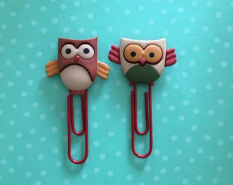 Owl bookmarks // owl planner clips // filofax clips // owl planner // owl planner accessories // planner accessories