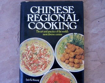 Chinese Cook Book, Chinese Regional Cooking Cookbook, Chinese Regional Cooking by Deh-Ta Hsiung, 1979 Chinese Vintage Cookbook