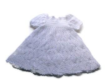 Preemie Christening Gown, premature robe de bapteme, dedication, blessing, baptism  White - Reborn Doll Clothes -  White Dress for Preemie,