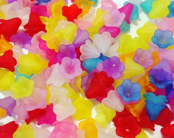 Frosted Flower Cap Beads