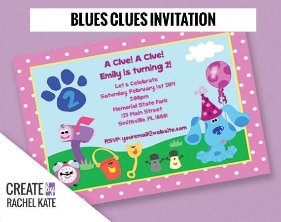 Blues clues invite – Blues Clues Party Invitations