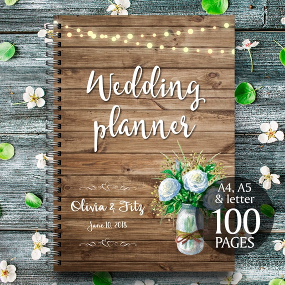 Printable wedding planner, Instant download wedding planner, Rustic wedding planner, Wedding binder, Wedding organiser, Wedding checklist