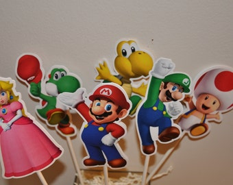 Mario Cake Toppers set of 6