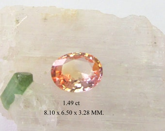 Natural peach sapphire for engagement rings, mined in Ceylon.
