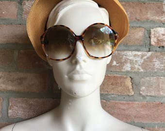 NINA RICCI vintage sunglasses, 1970, oversize, woman sunglasses, bug eye