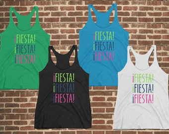 Fiesta Tank Top, Cinco de Mayo Tank Top, Party shirt