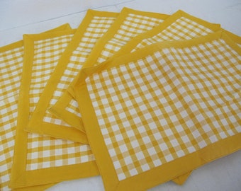 Ritva Puotila Dansk Placemats Yellow Check Placemats Finnish Design
