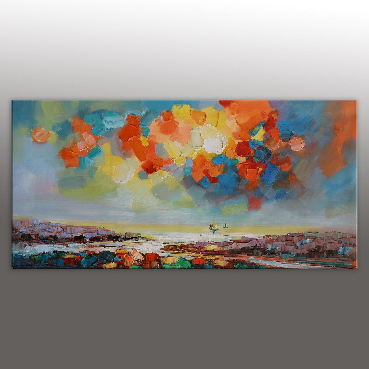 Large Oil Painting Canvas Painting Bathroom Wall Decor