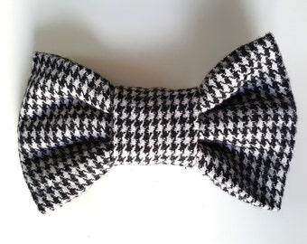 Dogtooth check Dog Bowtie