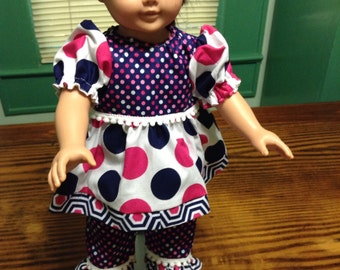 """18"""" doll clothes top and pants"""