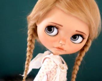 "Pure MOHAIR WIG 10-11"" Ginger Blond long braids for dolls : Blythe et Neo Blythe Custom, American Girl ..."