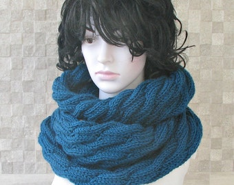Winter Shawl - chunky scarf -   Knit Infinity Scarf - Infinity Loop Scarf  - Womens Oversized Scarf - Hooded Winter Scarf
