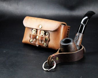 Steampunk Pouch - Leather Pouch - Leather Belt Pocket - sold individually