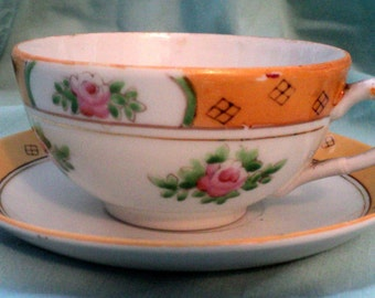 Handpainted NIPPON Tea Cup