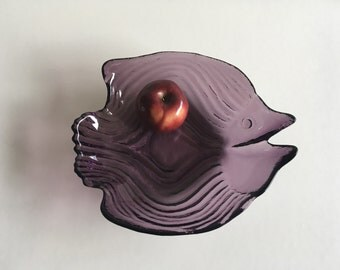 Mid Century Glass Bowl.