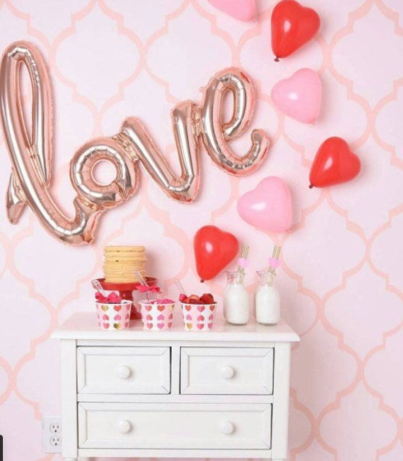 sweetheart balloon mix/ valentines day balloons /rose gold, Ideas