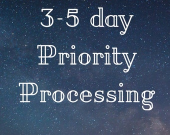 3-5 Business Day Priority Processing Upgrade