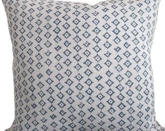 High End Designer Decorative Pillow Cover-Kumbh Indigo/Natural-Accent Pillow-Toss Pillow-Sofa Pillow-Cushion Cover-Single Sided
