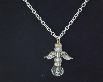 Swarovski crystal Angel Pendant