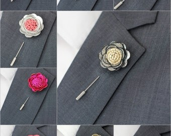 SALE 3 for price of 2, White lapel rose pin, Mens lapel flower, stick pin, lapel boutonniere, lapel boutonniere,rustic wedding boutonnniere,