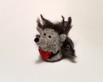 Needle felted hedgehog, woodland felt animal gift