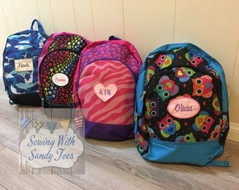 Kids backpack, Personalized Childs Back Pack,  Child's Backpack, Toddler Backpack, Kid's BackPack, Personalized BackPack, school