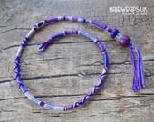 Cotton Hair wrap Purple Hairwrap Boho Hair braid Festival Hair wrap Clip in Seaside Hair accessory Wood bead Glass bead SILVER BELL